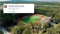 Sân diễn ra trận Philippines vs Thái Lan bị chê là 'sân địa phương' vì quá nhỏ