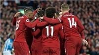 Liverpool 5-0 Huddersfield: Salah và Mane lập cú đúp, Liverpool tạm chiếm ngôi đầu