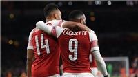 Arsenal 3-1 Valencia: Lacazette và Aubameyang rực sáng, Arsenal rộng cửa vào chung kết