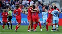 Thái Lan nhận thất bại đậm nhất lịch sử World Cup nữ khi thua Mỹ 13 bàn trắng