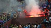 U23 Việt Nam 2-0 U23 Myanmar: CĐV Việt Nam đốt pháo sáng trên SVĐ Phú Thọ