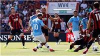 Bournemouth 1-3 Man City: Kun Aguero lập cú đúp, Man City thắng thuyết phục