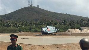 Máy bay trực thăng MI 8 rơi tại huyện đảo Phú Quý - Bình Thuận