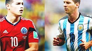 Trở về ĐTQG, Messi có xuất sắc hơn James Rodriguez?