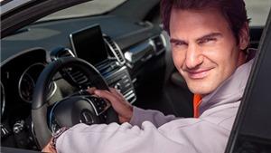 Federer cùng gia đình quảng cáo cho Mercedes-Benz