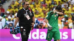 Claudio Bravo dính chấn thương khiến Man City lo sốt vó