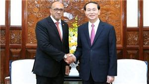 HÌNH ẢNH: Chủ tịch nước Trần Đại Quang tiếp Đại sứ Cuba