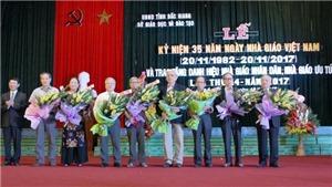 Tỉnh Bắc Giang vinh danh Nhà giáo Nhân dân, Nhà giáo ưu tú