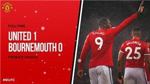 Video highlights bàn thắng M.U 1-0 Bournemouth: Lukaku lập công chuộc tội