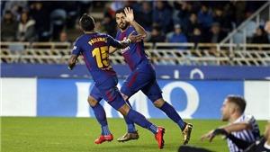 Video bàn thắng Sociedad 2-4 Barca: Tam tấu Suarez, Messi và Paulinho lại nổ súng