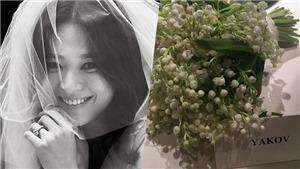 Bí mật của bó hoa 'Nước mắt của Đức mẹ' trên tay Song Hye Kyo trong ngày cưới