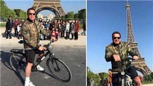 'Kẻ hủy diệt' Arnold Schwarzenegger hài hước 'náo loạn' ở Paris