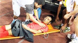 'Đội hình tiêu biểu' trong bệnh viện V-League: Gãy chân, chấn động não, vỡ đầu gối