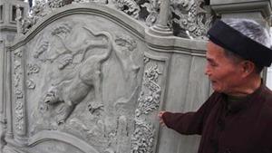 Giật mình vì bình phong 'lạ' ở di tích quốc gia thờ Ngô Quyền