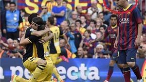 Messi nhổ nước bọt, đứng 'tự kỉ' nhìn cầu thủ Atletico Madrid ăn mừng