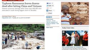 Nhật báo nổi tiếng của Anh 'The Guardian' cập nhật tin bão Thần Sấm hoành hành tại Việt Nam