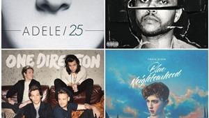 10 album nhạc pop tuyệt vời nhất năm 2015