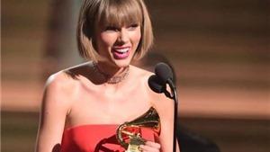 VIDEO: Taylor Swift tung lời 'cạnh khóe' khi nhận giải Grammy với album '1989'