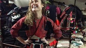Nữ minh tinh Brie Larson thích thú khoe ảnh ăn phở, mặc áo thổ cẩm