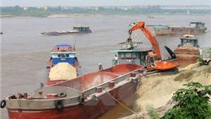 Hà Nội chống 'cát tặc' trên sông Cầu
