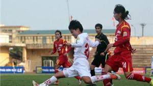 Giải bóng đá nữ VĐQG – Thái Sơn Bắc 2016: Hà Nội 1 chia điểm TP.HCM 1