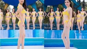 Thí sinh Hoa hậu Việt Nam khoe dáng trên biển Tuần Châu