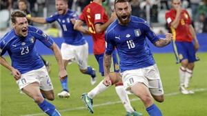 Italy 1-1 Tây Ban Nha: Buffon mắc lỗi, De Rossi giải cứu đoàn quân Thiên thanh