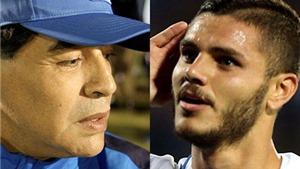 Bị Maradona khơi chuyện đời tư, Icardi giận dữ đáp trả