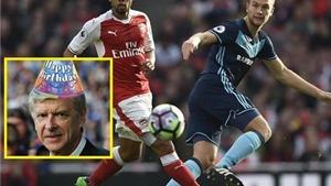 CĐV Arsenal thất vọng khi HLV Wenger không có 'quà' trong ngày sinh nhật