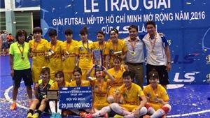 Phong Phú Hà Nam đăng quang giải futsal nữ TP.HCM 2016