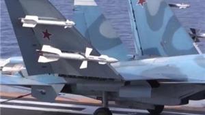 VIDEO: Choáng ngợp cảnh Su-33 Nga xuất kích từ tàu sân bay, tìm diệt IS