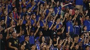 CĐV Thái Lan xếp hình số 9, tưởng nhớ nhà vua Bhumibol Abdulyadej