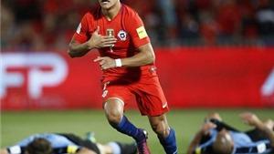 Alexis Sanchez chấn thương vẫn lập cú đúp, sắp đi vào lịch sử Chile