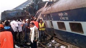 VIDEO: Hiện trường rùng rợn vụ lật tàu hỏa Ấn Độ - đã có 91 người chết
