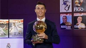 Choáng với bộ sưu tập danh hiệu của Ronaldo trong năm 2016