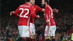 Man United 2-0 Hull: Fellaini lập công, 'Quỷ đỏ' đặt một chân vào chung kết