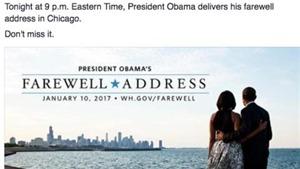 Tổng thống Obama nói lời từ biệt chân tình sau 8 năm cầm quyền