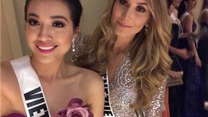 Lệ Hằng diện váy NTK Việt đọ sắc cùng dàn thí sinh Hoa hậu Hoàn vũ