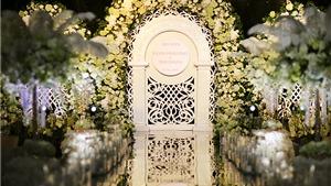 Không gian lộng lẫy của tiệc cưới Hoa hậu Thu Ngân