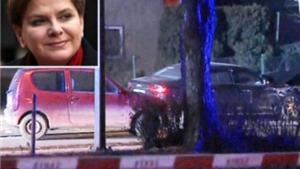 Ô tô bị hất văng, Thủ tướng Ba Lan và nhân viên an ninh bị thương