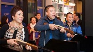 Hoàng Xuân Vinh được lãnh đạo bắn súng Hàn Quốc thần tượng