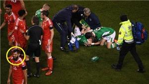 Tiền vệ xứ Wales bị lên án vì thản nhiên cười khi Coleman bị gãy chân