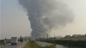 NÓNG: Cháy lớn ở nhà máy Diana tại Bắc Ninh