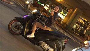 Beckham 'mắng yêu' cô gái Việt Nam không đội mũ bảo hiểm, vừa đèo con, vừa chụp ảnh
