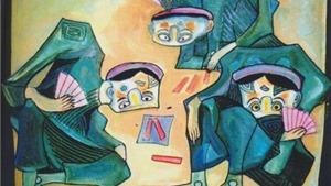 Chùm tranh đảo ngược của họa sĩ Nguyễn Đại Giang