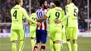 CHÙM ẢNH Atletico-Barca: Tâm điểm Neymar, 2 thẻ đỏ, penalty 'ngoài vòng cấm', Turan ném giày vào trọng tài