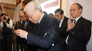 Các đồng chí lãnh đạo Đảng, Nhà nước viếng đồng chí Nguyễn Bá Thanh