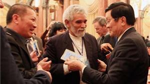 Chủ tịch nước Trương Tấn Sang tiếp các nhà văn quốc tế