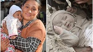 Tâm sự của mẹ em bé sống sót thần kỳ sau động đất Nepal