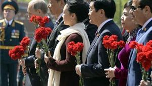 Lãnh đạo Việt Nam chúc mừng lãnh đạo Liên bang Nga nhân kỷ niệm 70 năm Ngày Chiến thắng